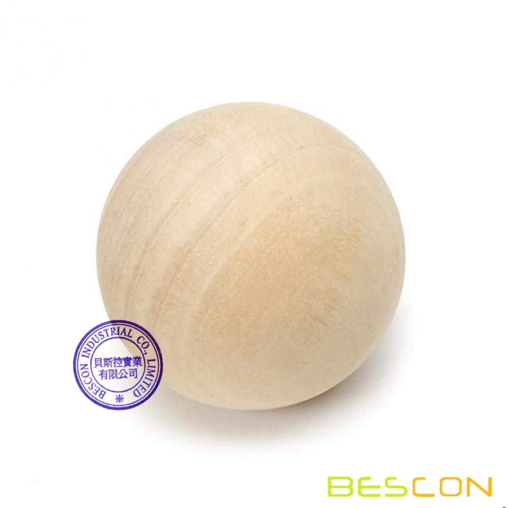 Bescon 1-1/4 inch Natural Hardwood Round Balls 10pcs Set- Lacquered Wooden Balls for Crafts & Architectural Work & Design or DIY