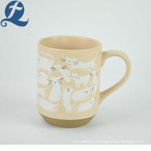 Кружка кофейная чайная на заказ котик с принтом фарфоровая керамика кружка