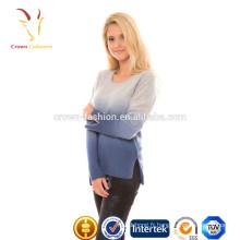 Impression tunique Cachemire Top beaux chandails pour les femmes
