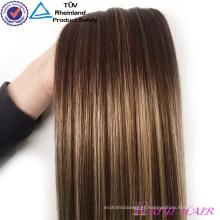Wholesale Alibaba Remy Virgin Cabelo grampo em extensões de cabelo humano indiano virgem atacado