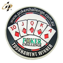 New products custom metal dies silver enamel poker casino gambling game token coin