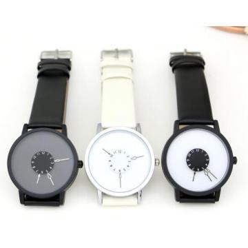 Yxl-719 Fashion Simple Design Men Watch Unique Genuine Leather Quartz Watch
