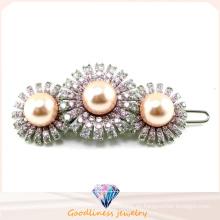 Los mejores productos elegante diseño para la mujer moda joyería de plata joyas horquilla perla (h0006)