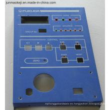 Cubierta de aluminio del panel de control