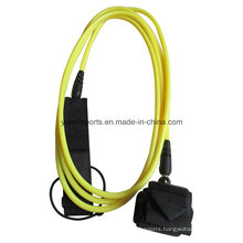 8mm 10′ Yellow Colour TPU Surf Leash for Surfboard