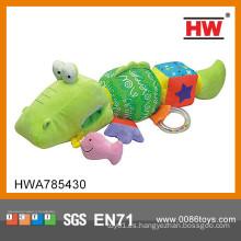 Interesante juguete de juguete de animales de juguete de la fábrica de peluche de felpa de animales de juguete de cocodrilo