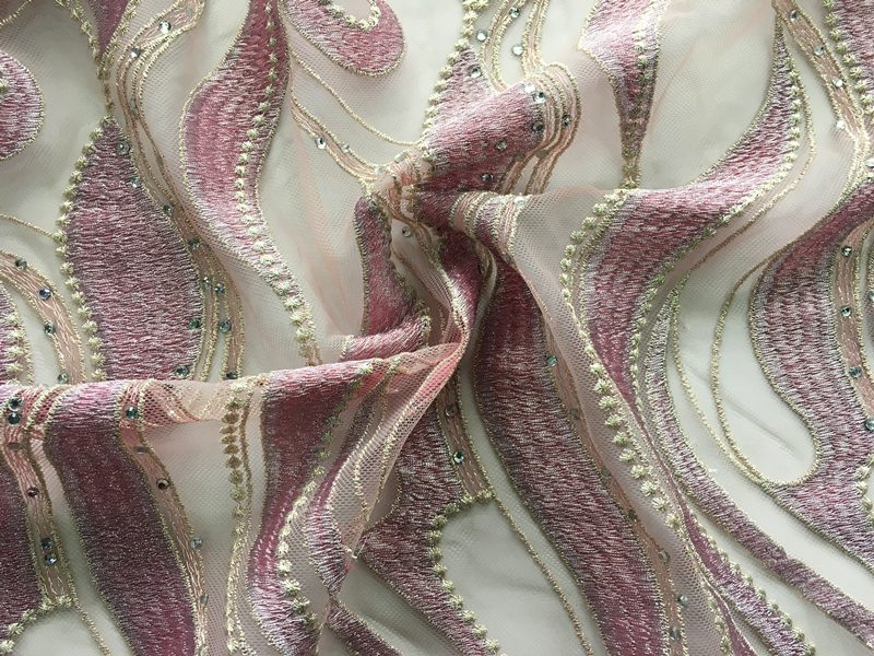 Geometry Stripe Embroidery Fabric
