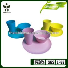 Ensemble de vaisselle pour enfants en fibre de bambou écologique