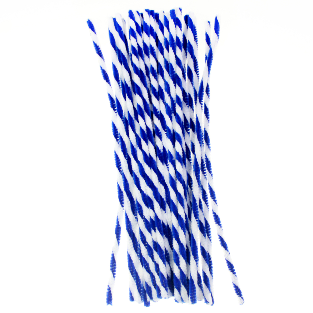 Twist Chenille stems stick kids Diy decoration crafts, blue and white