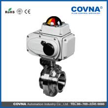 Válvula de bola eléctrica vendedora caliente de la válvula eléctrica del grado del alimento con la alta calidad