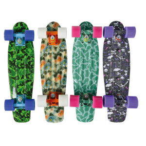 Colorful Leopard Printed Plastic Penny Skate Board