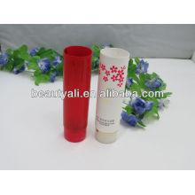Tubo cosmético colorido para loção protetor solar
