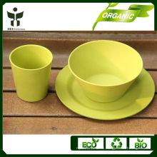 Натуральная посуда из био-разлагаемой посуды из бамбука