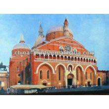 Pintura a óleo moderna da lona do castelo de India para a decoração