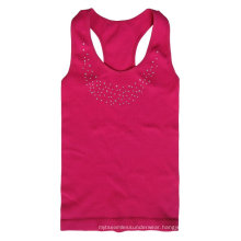 seamless plain roseo sport vests