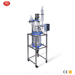 10L+Lab+Jacketed+Glass+Polymerization+Reactor+Price