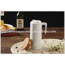 2015 high quality ceramic drinking water pot with bamboo cover