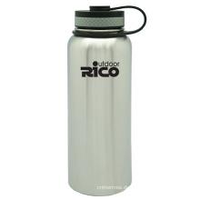 Edelstahl Vakuum Sportflasche mit Schleife 1200ml