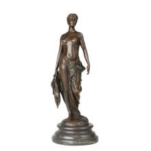 Женская Коллекция бронзовая скульптура обнаженная женщина домашнего декора Латунь статуя ТПЭ-843