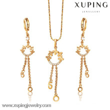 62653- Xuping Simple ladies cute earring pendant jewellery set design