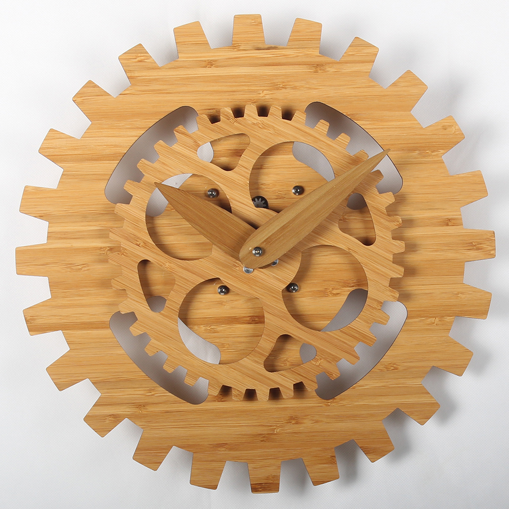 16 Inches Wooden Gear Wall Clock