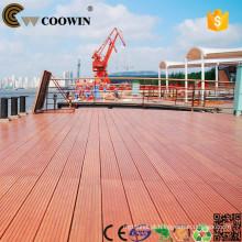 China Fábrica de produção de materiais de construção wpc composto chão decking ao ar livre
