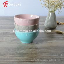 Einfache, stapelbare FDA zugelassene Keramikschale