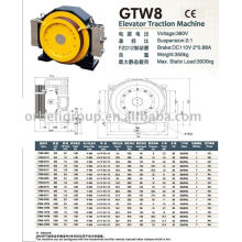 Elevator Traction Machine(Gearless-GTW GTS Series)