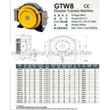 Máquina de tração de elevador (série Gearless-GTW GTS)