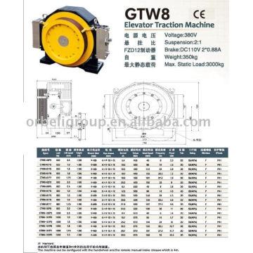 Machine de traction pour ascenseur (série Gearless-GTW GTS)
