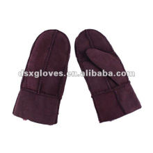 winter warm lambskin mittens for ladies