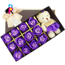 Hot sales custom single waterproof luxury gift paper decoration square flower box