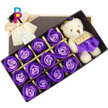 Горячие сбывания изготовленный на заказ одиночный водоустойчивый роскошный подарок бумажный квадратный украшения цветок коробка