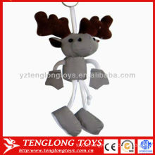 New design reflective Christmas milu deer long legs keychain toy