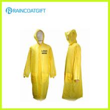 Capa de chuva em PVC amarelo comprido para homem