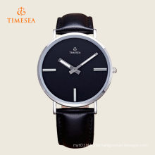 Timesea Casual Quartz Wristwatch with Leather Strap 72295