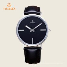 Relógio de pulso casual de quartzo Timesea com pulseira de couro 72295