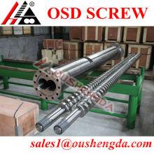 Krauss Maffei screw and cylinder for twin screw extruder