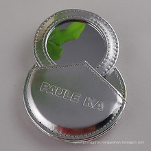 Lady Promotion Pocket Leather Make up Mirror with Logo (B2009)