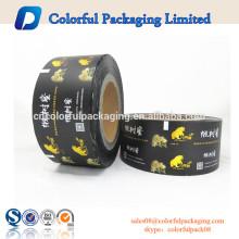 Rolos de embalagem de plástico de filme de rolo de alumínio de chá magro preto fosco