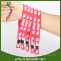 Günstige benutzerdefinierte machen Polyester-Bezeichnung Stoff Wristband