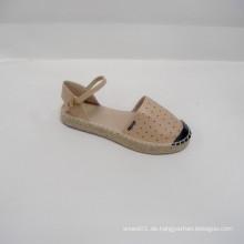 2014 Fabrik direkt verkaufen niedlichen weiblichen Banded Flats Schuhe PU Schuhe Freizeitsport der Laser PU Espadrille