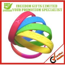 O logotipo barato barato de Customed personalizou o punho do silicone