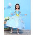 Kostüm-Kleiderblaue Parteiabnutzungs-Prinzessinkleidkinder der Kindermädchen-Butike cospay Kostümkinder