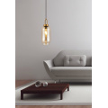 Modern pendant lighting and  glass bottles