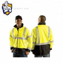 Safety Winter hi vis long jacket,Polyester 300D water proof breath fabric and Reflective tapes, Zip Fasten, CE EN20471 Standard