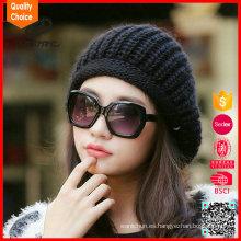 Nuevo sombrero de acrílico del knit de la gorrita tejida del invierno de la manera de la llegada