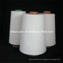Hilado de poliéster blanco crudo hilado para hilo de coser