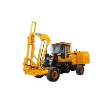 construction guardrail hydraulic press pile driver