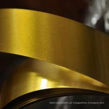 Lámina de hojalata electrolítica lacada dorada para extremos abiertos fáciles